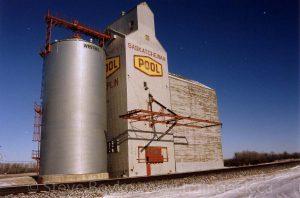 The Chaplin grain elevator