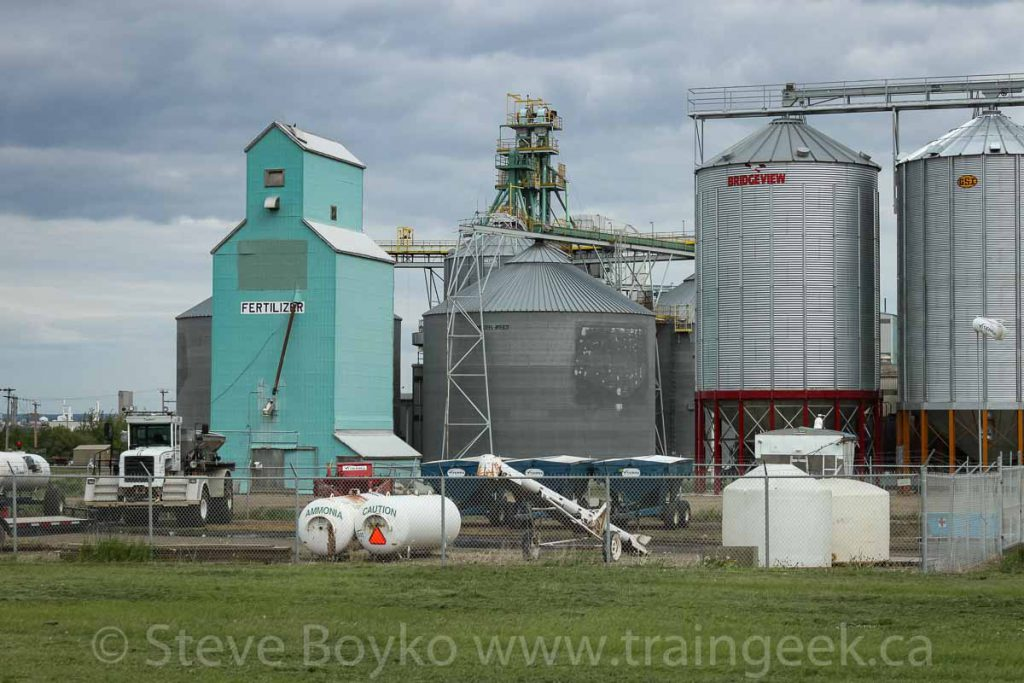 Fertilizer elevator in Redwater, AB