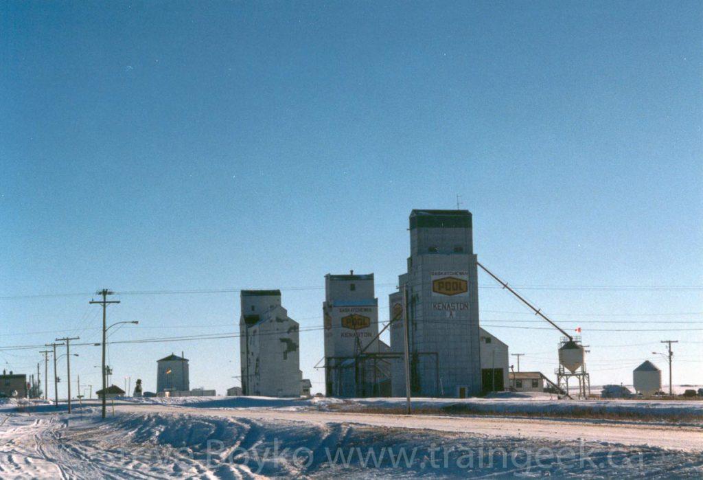 Kenaston grain elevators, January 2001.