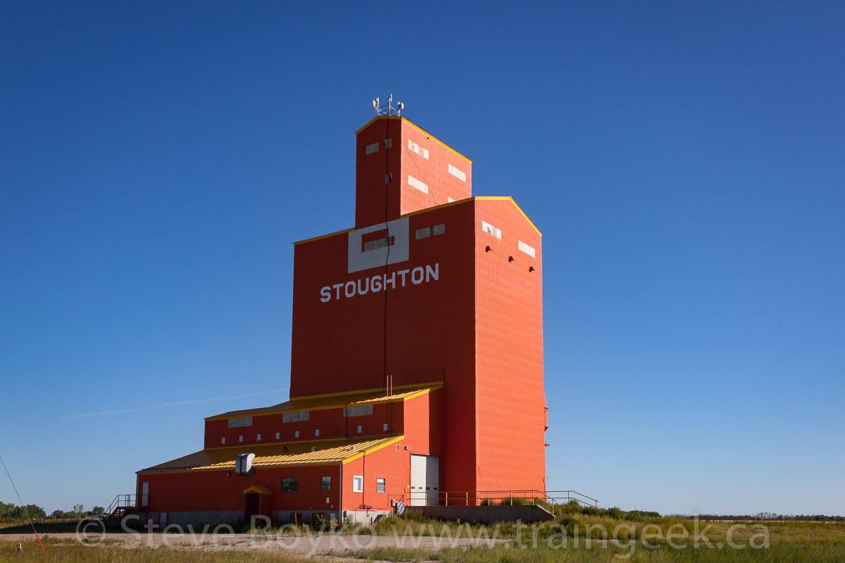 Ex Pioneer grain elevator in Stoughton, Saskatchewan