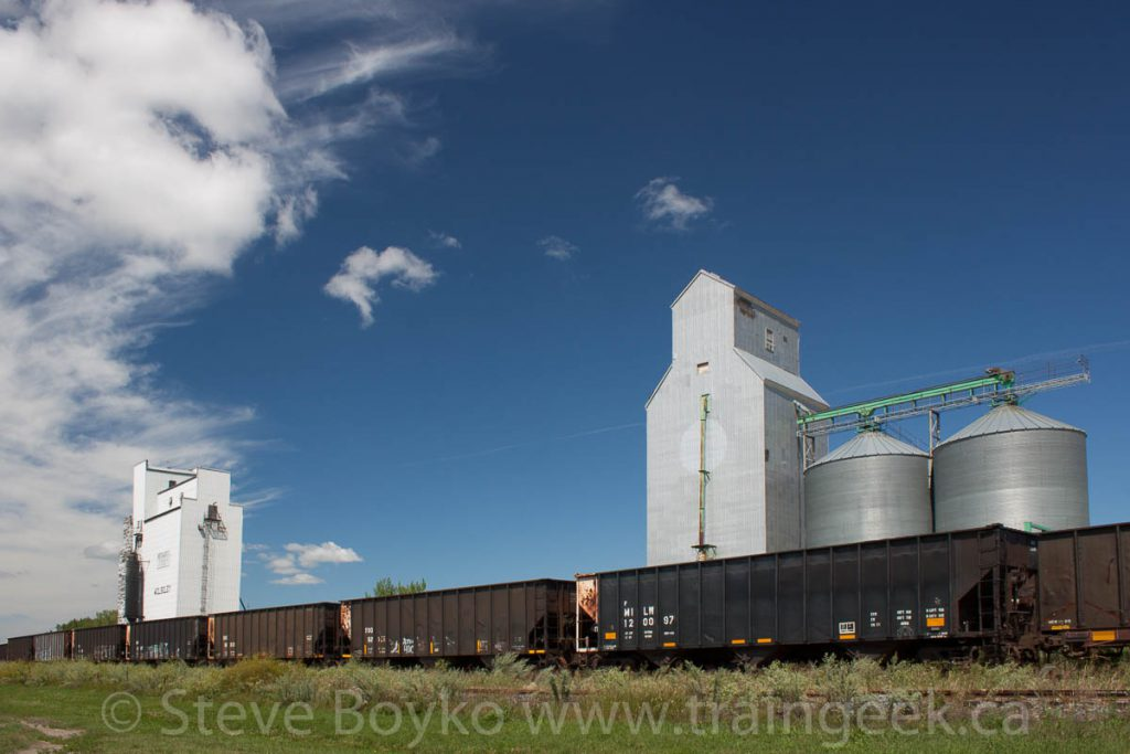 The two Wolseley grain elevators. Contributed by Steve Boyko.