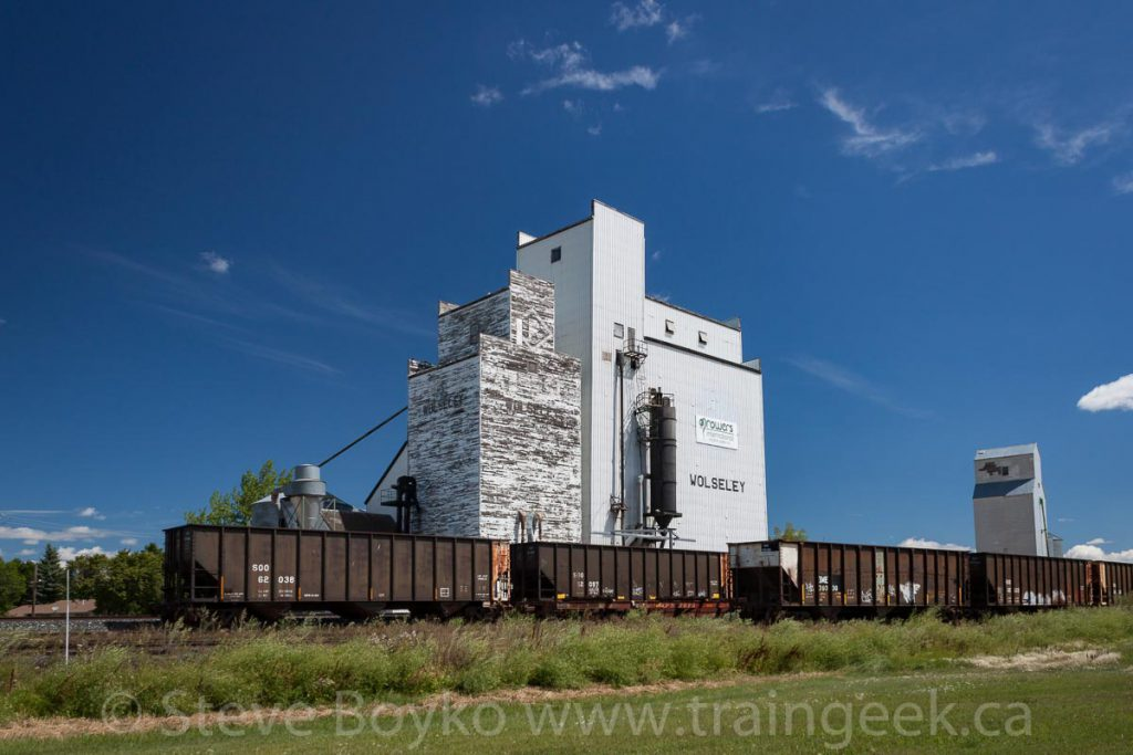 Ex Paterson grain elevator in Wolseley, SK. Contributed by Steve Boyko.