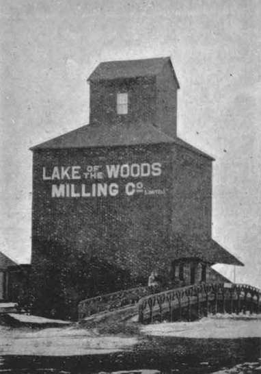 Lake of the Woods grain elevator in Elkhorn, MB