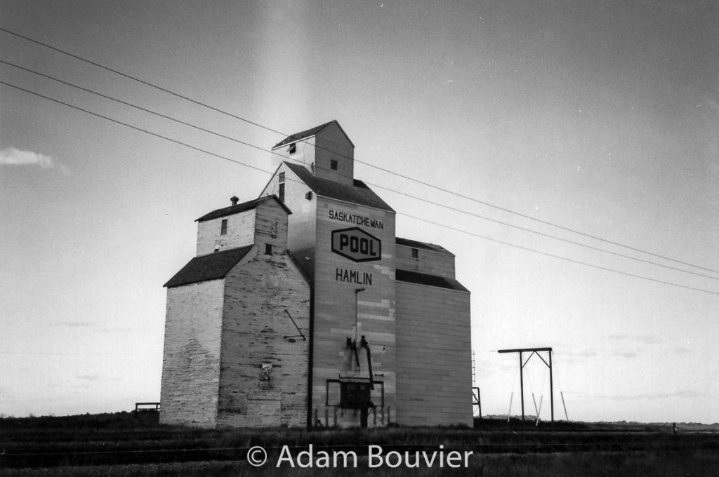 The grain elevator in Hamlin, SK, Sept. 2003. Contributed by Adam Bouvier.