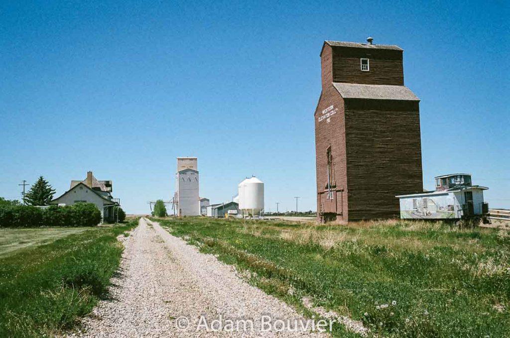 Gravelbourg, SK grain elevators, June 2017. Contributed by Adam Bouvier.