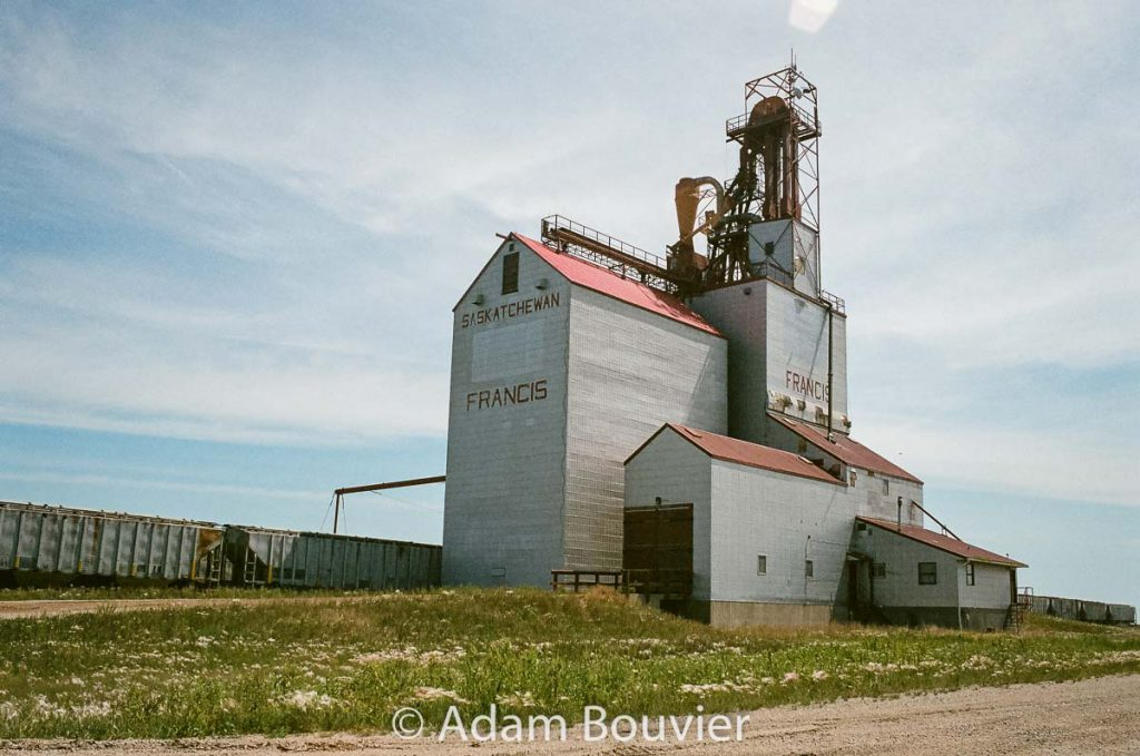 Francis grain elevator, June 2017. Contributed by Adam Bouvier.