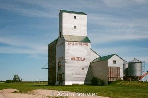 The Arcola, SK grain elevator, June 2017. Contributed by Adam Bouvier.