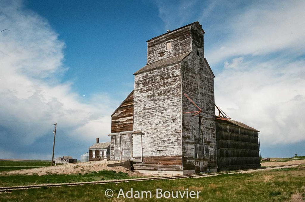 Ex Federal grain elevator in Horizon, SK, May 2017. Contributed by Adam Bouvier.