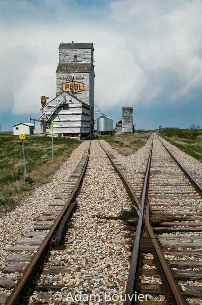 Grain elevators in Horizon, SK. May 2017. Contributed by Adam Bouvier.