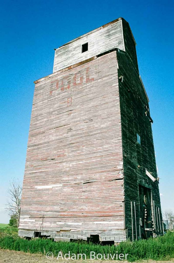 The ex Federal grain elevator in Tate, SK, 2017. Contributed by Adam Bouvier.