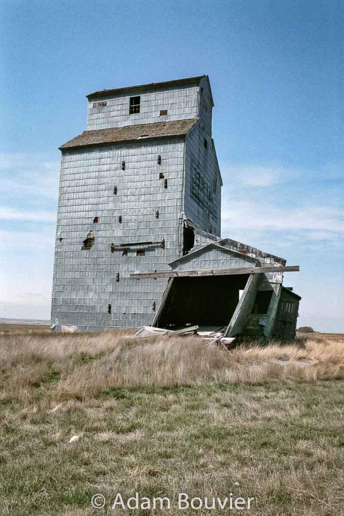 Moreland, SK grain elevator, April 2008. Contributed by Adam Bouvier.