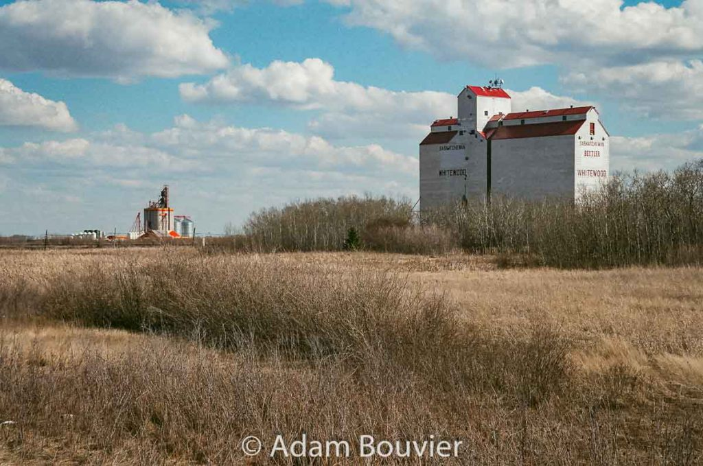Whitewood, SK ex Pool grain elevator, April 2017. Contributed by Adam Bouvier.