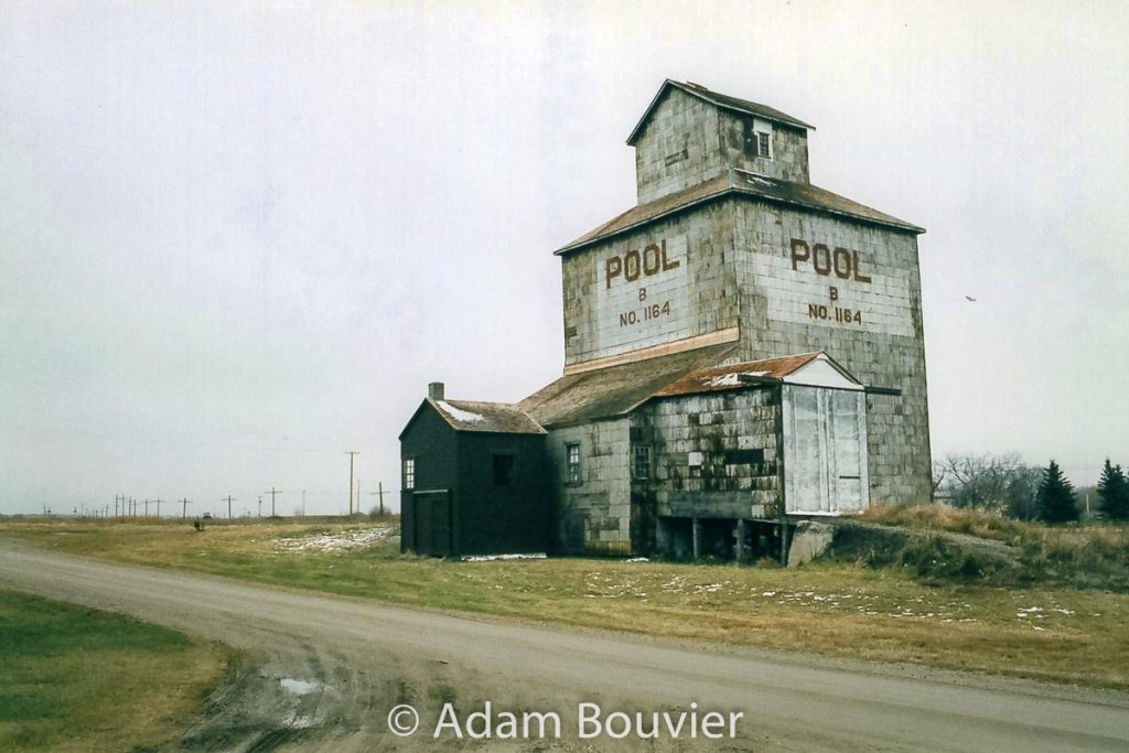 The former Fleming, SK grain elevator, November 2005. Contributed by Adam Bouvier.