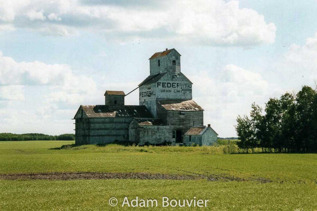 Dunleath, SK grain elevator, June 2006. Contributed by Adam Bouvier.