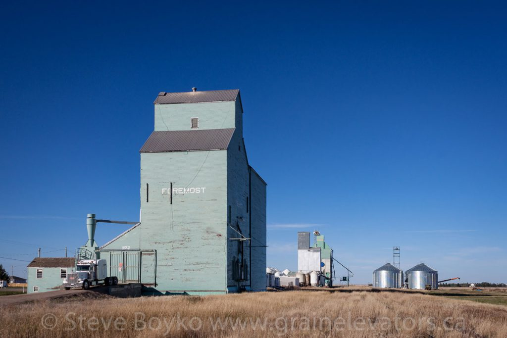 Grain elevators in Foremost, AB, October 2015