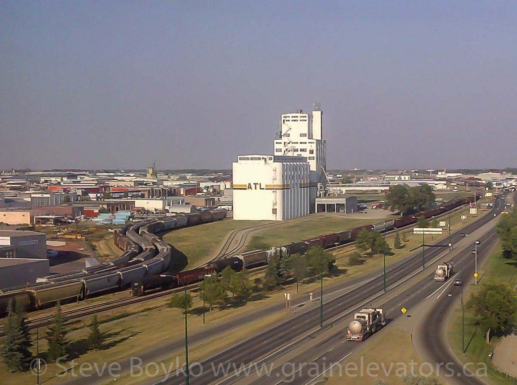 Alberta Terminals Limited grain elevator in Lethbridge, AB. August, 2013.