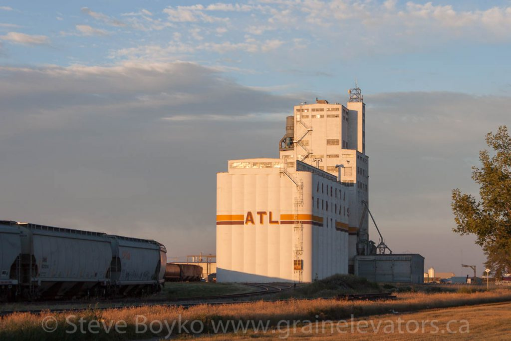 Alberta Terminals Limited grain elevator in Lethbridge, AB. August 2013.
