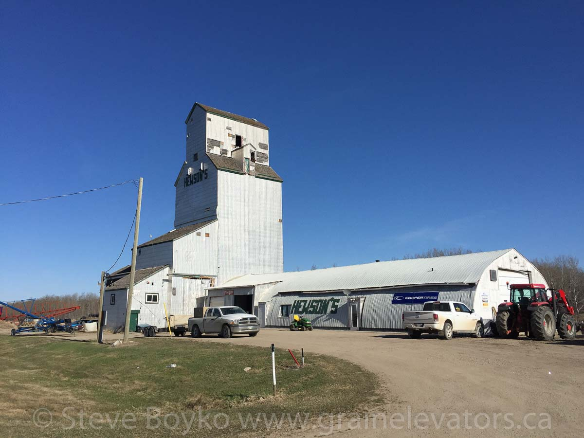 The Angusville, Manitoba grain elevator. April 2016.