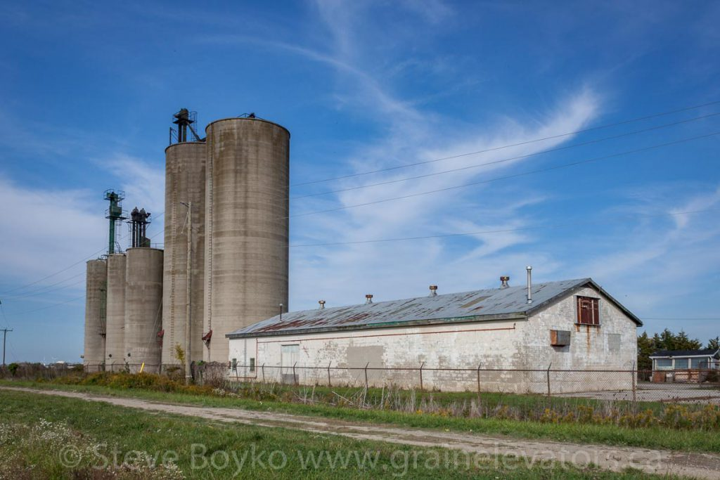 The grain elevator in Blytheswood, Ontario. September 2012.