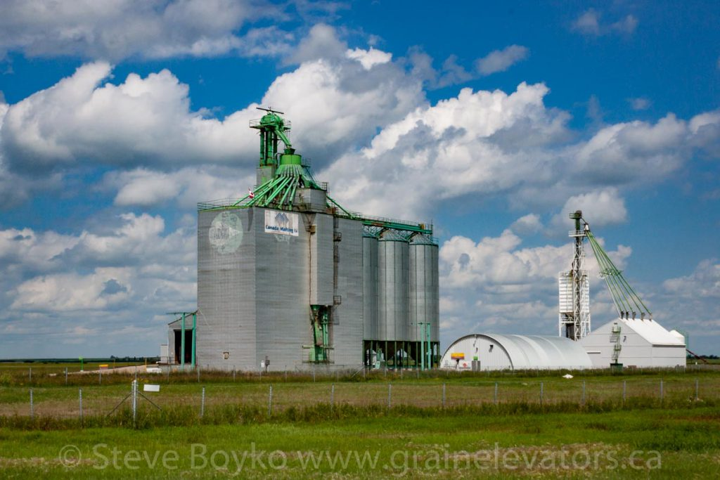 Canada Malting grain elevator in Bieseker, AB. July 2013.