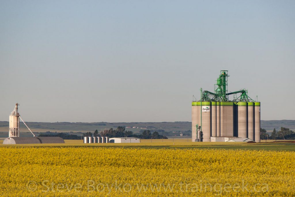 Cargill grain elevator outside Moose Jaw, SK, July 2013