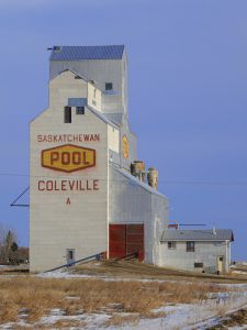 Coleville, SK grain elevator, Dec 2017. Copyright by Michael Truman.