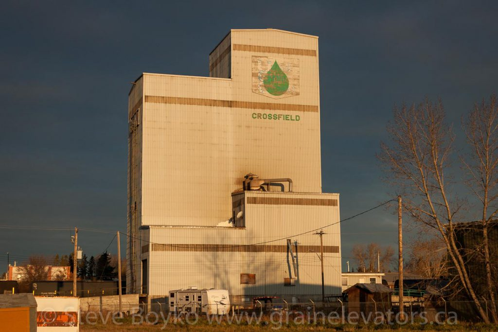 Ex UGG grain elevator in Crossfield, AB. October 2013.