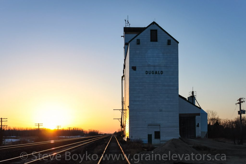 Dugald, MB grain elevator. April 2011.