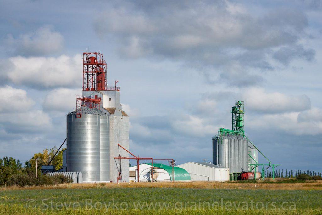 Rowatt grain elevators, August 2011.