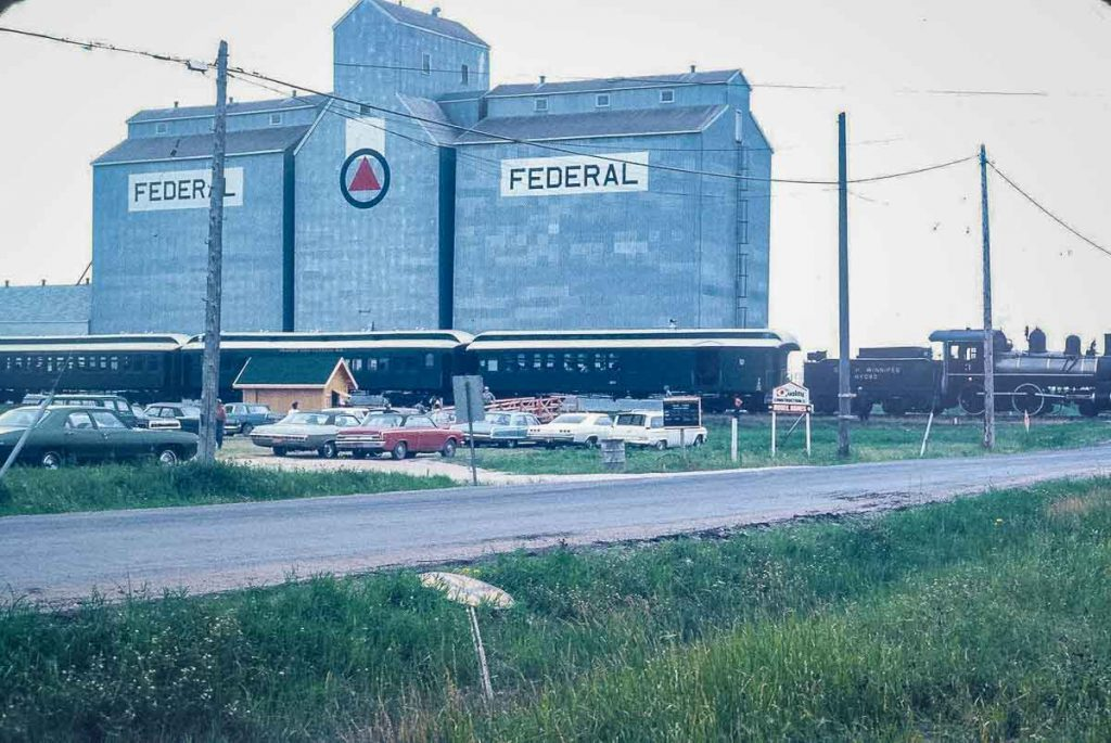 Federal grain elevator near Pacific Junction, Winnipeg, August 1970. Copyright by Paul Newsome.