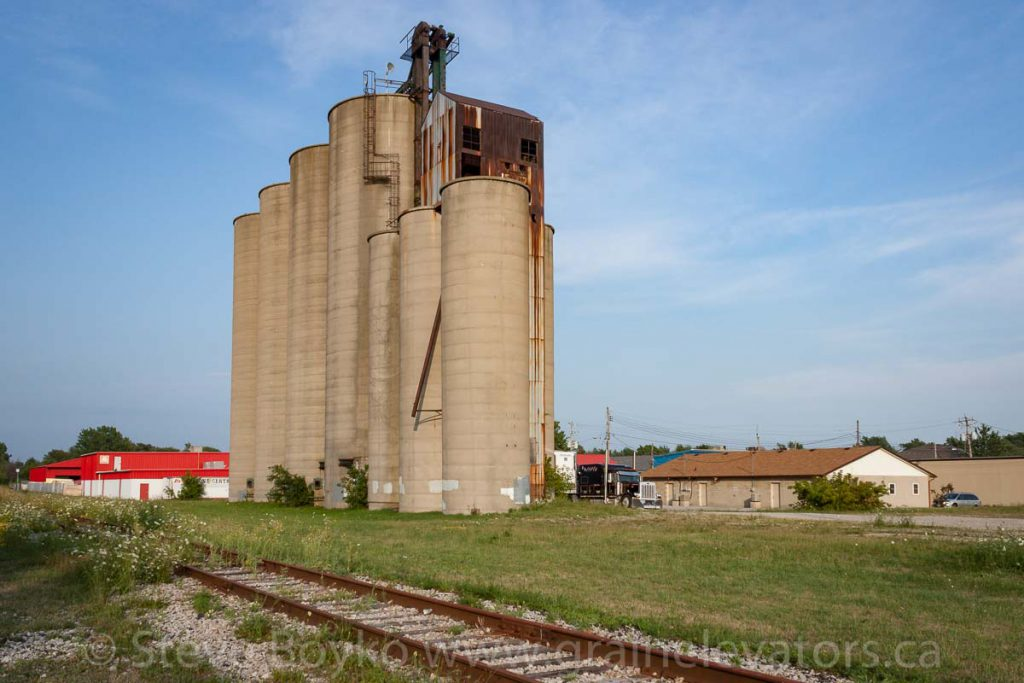 Grain elevator in Essex, Ontario. July 2012.