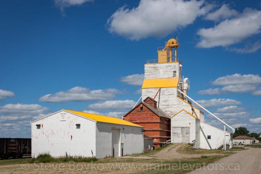 A grain elevator in Gull Lake, Saskatchewan. July 2013.