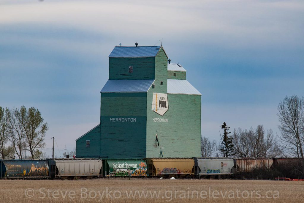 Herronton, AB grain elevator, May 2017