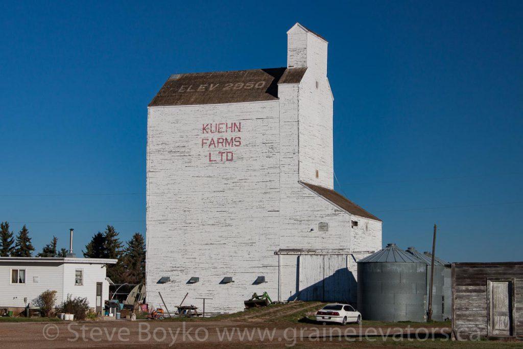 Kuehn Farms grain elevator near Skiff, AB.