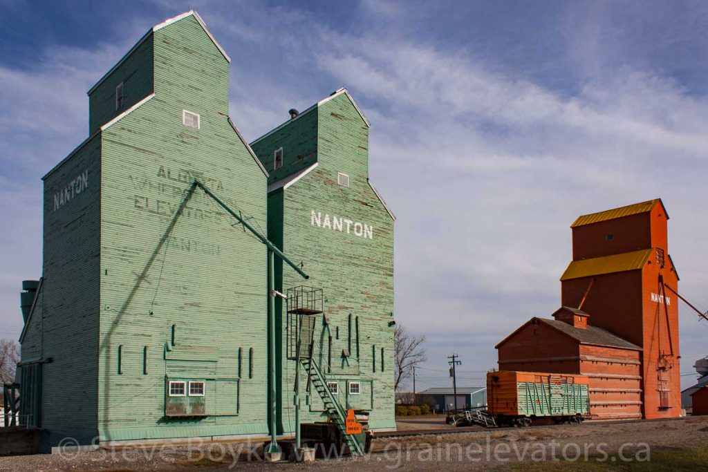Nanton, AB grain elevators, October 2014.