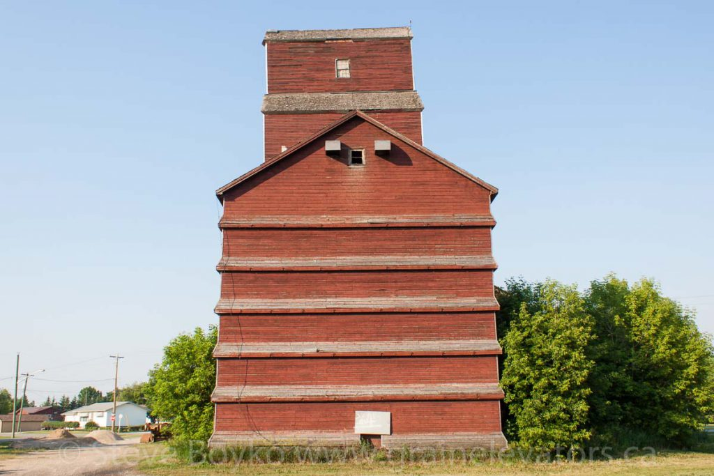 The annex on the Winnipegosis grain elevator. June 2015.