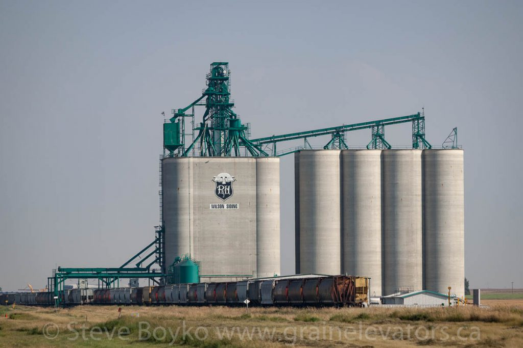 Parrish & Heimbecker grain elevator at Wilson Siding, Alberta. August 2013.