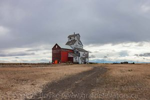 The Alberta Pacific grain elevator in Raley, AB. September 2017.