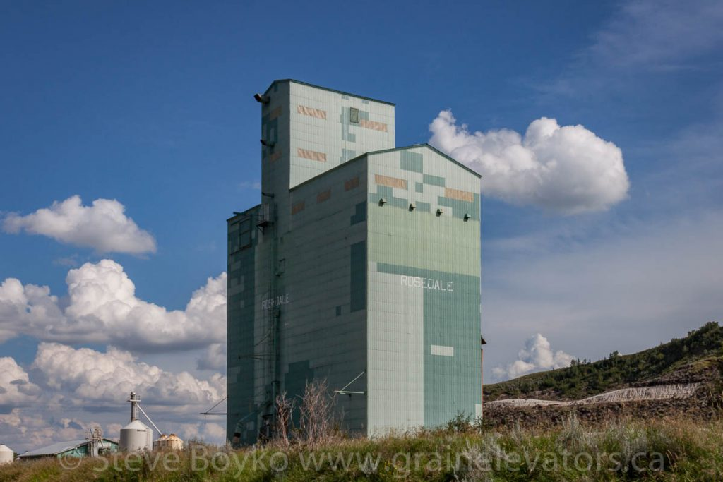 Rosedale grain elevator, July 2013