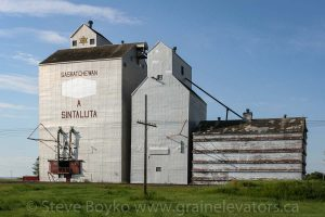Ex Saskatchewan Wheat Pool elevator in Sintaluta, SK, August 2010.