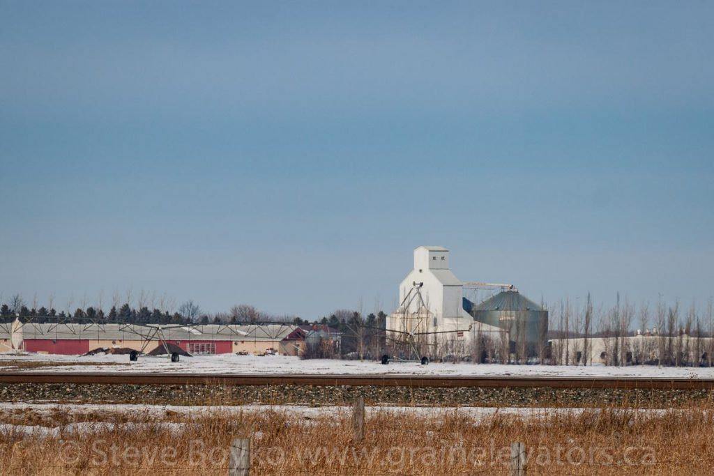 The grain elevator at the Sommerfeld Colony in Manitoba. December 2017.