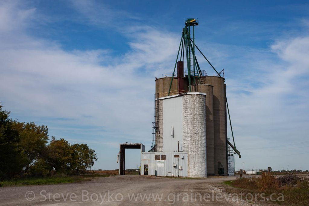 Grain elevator in Staples, Ontario. September 2012.