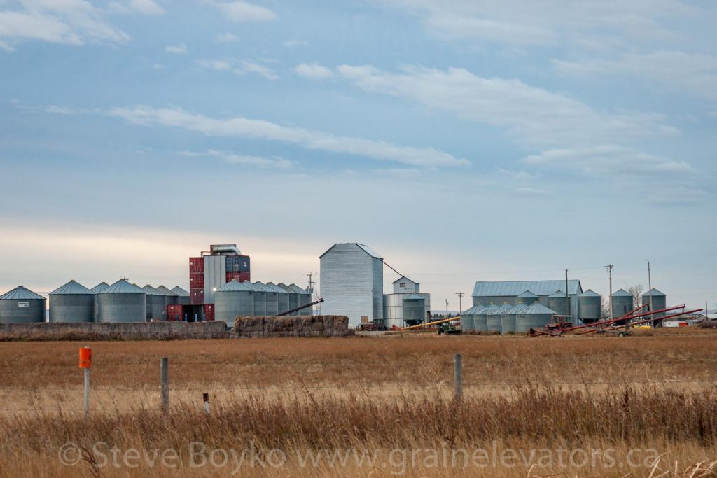 Remnant of a grain elevator in Stirling, AB. October 2014.