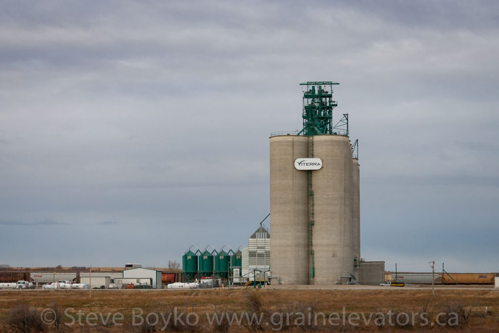 Viterra grain elevator near Crossfield, AB, October 2013