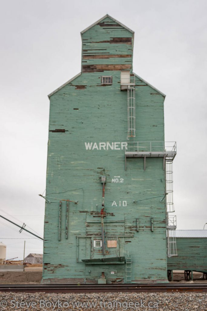 Warner grain elevator, demolished November 2014