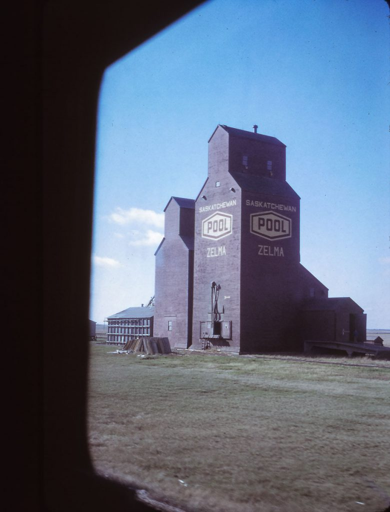 Zelma, SK grain elevator, 1972. Contributed by Eric May.