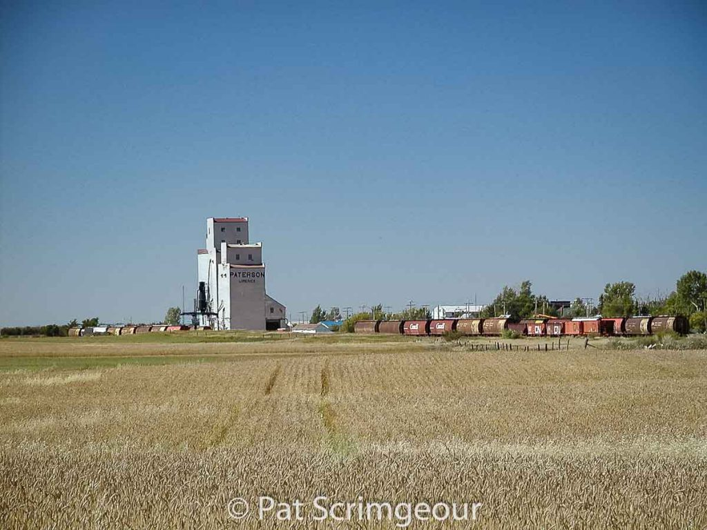 Grain elevator in Limerick, SK, Sept. 2002. Contributed by Pat Scrimgeour.