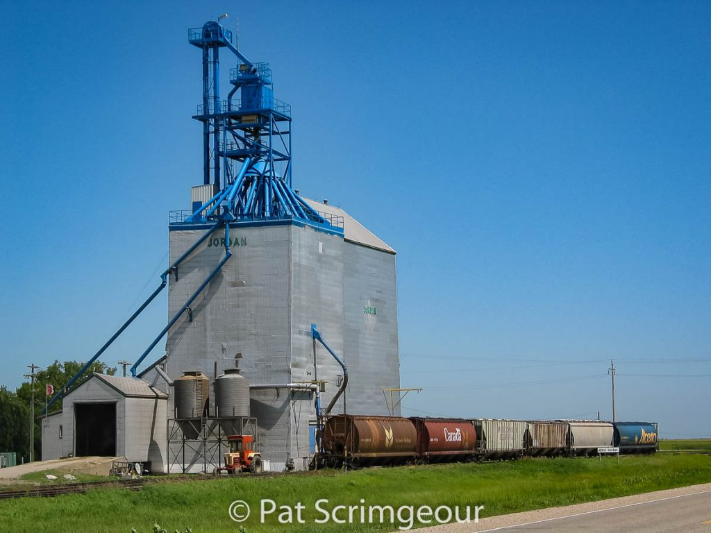 Jordan, MB grain elevator, July 2005. Contributed by Pat Scrimgeour.