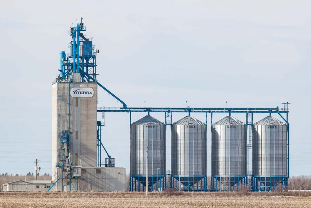 Beausejour grain elevator, April 2014. Contributed by Steve Boyko.
