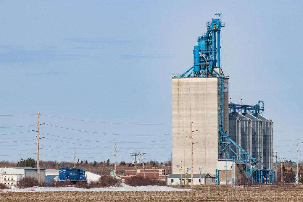 Viterra grain elevator in Beausejour, MB, April 2014. Contributed by Steve Boyko.